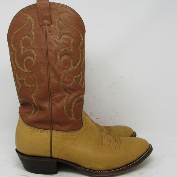 10e1064431a 🇺🇸 Nocona tan cowboy boots men's size 10.5D
